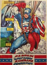 "Captain America 43"" x 31.5"" Cloth Scroll Poster  (Marvel, 1991) Todd MacFarlane"