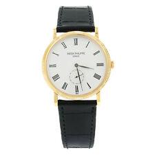 Patek Philippe Calatrava 18K Rose Gold Manual Wind Mens White Watch 5119R-001