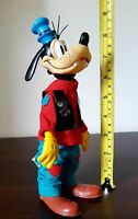 "Rare Vintage 1960s Walt Disney R Dakin & Company Large 9"" Goofy Toy Figure Doll"