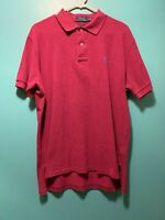 Polo Ralph Lauren Berry Red 100% Cotton Polo Shirt Blue Pony Sz Large SOFT!