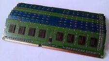 LOT OF 10 2GB PC3-10600 RAM DDR3-1333MHz DESKTOP MEMORY / MAJOR BRAND / WARRANTY