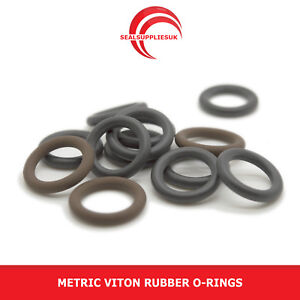 Metric Viton Rubber O Rings 2mm Cross Section 31mm-70mm ID - UK SUPPLIER