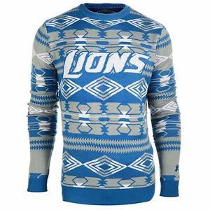 Forever Collectibles NFL Men's Detroit Lions 2015 Aztec Ugly Sweater