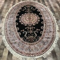 YILONG 5'x8' Oval Hand Made Classic Silk Carpet Home Decor Oriental Rug W332A