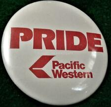 PACIFIC WESTERN AIRLINES PROMO BUTTON/Pin Near Mint