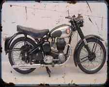 Bsa C11 01 A4 Metal Sign Motorbike Vintage Aged