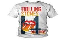 T-SHIRT : ROLLING STONES - 14 ON FIRE Concert Tour 2014 Australia (Small)