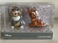 Primark Disney 2 X Christmas Bauble Hanging Decoration Thumper & Bambi RARE