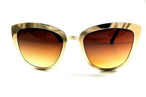 UV027 Gold Brown Gradient Cat Eye Sunglasses Buy 1 get 1 Free