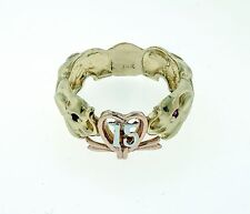 14k Solid Multi Tone Gold Sweet 15 Elephant Ring Quinceanera 15 Años De Oro