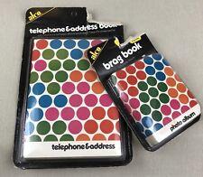 alco Vintage Set Telephone/Address Book & Photo Album Retro Polka Dots