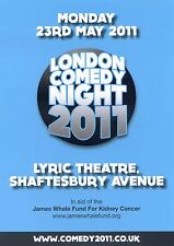 LONDON COMEDY NIGHT JAMES WHALE FUND Theatre Flyer 2011 Handbill