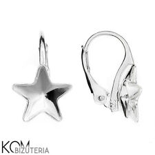 Sterling silver leverback earring for star 4745 10 mm crystals kz 59- 1 pair