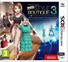 New Style Boutique 3 Styling Star 3DS PAL ESPAÑA NUEVO PRECINTADO ESPAÑOL