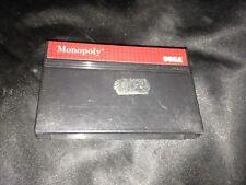 Juego Monopoly, Sega Master del sistema, tienda de eBay confianza, sólo cartucho