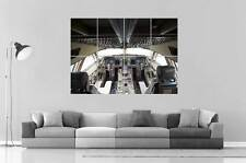Cockpit plane avion BOEING 747  Poster Grand format A0 Large Print 2