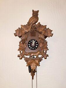 German & Carved Wooden Cuckoo Clock - VINTAGE
