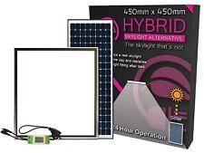Solar Powered Skylight, Hybrid, LED light fed from MAINS & SOLAR during the day