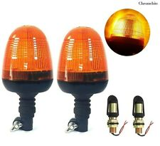 2x Din Pole Safety Warning Beacon Lights For Ford New Holland John Deere Tractor
