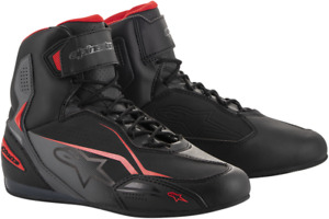 Alpinestars Faster 3 Riding Shoes 8 Black Gray Red 2510219131-8
