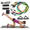 11Pcs/Set Resistance Bands Exercise Yoga Crossfit Fitness Training Tubes-