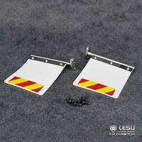LESU Metal Rear Mud Plates for 1/14 Scale Tamiya King GL RC Trucks Tractors Cars
