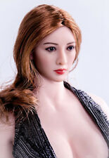 """1/6 Sweetie Girl Head Asian Female Head Carving F 12"""" Action Figure Toys"""