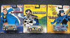 Hot Wheels Pop Culture Marvel Lot(3) Collectible Punisher Black Widow Dr Strange