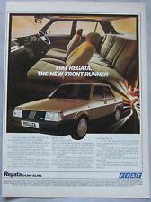 1984 Fiat Regata Original advert