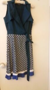 PLAINS & PRINTS SIZE 8 DRESS, WORN ONCE AND IN GREAT PRE OWNED CONDITION.