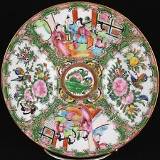 Antique CHINESE Porcelain China HAND-PAINTED Enamel ROSE MEDALLION Plate