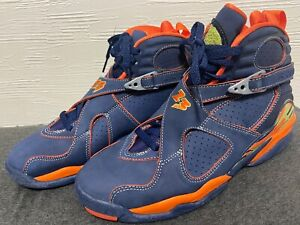 2007 Sz7 Nike Air Jordan 8 retro Pea pods Navy Orange 316324-481