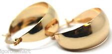 1Pair Gold Plated Round Huggie Earring Hoop Hoops Chic Jewelry Ladies
