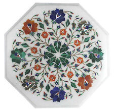 """12""""x12"""" Marble Center Side Table Top Marquetry Inlaid Furniture Decor Gifts Arts"""