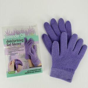 Moisturizing Lavender Oil Gel Gloves Purple One Size Essential Oils Dry Hands