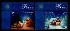 Weihnachten. Kind mit Geschenken, Weihnachtsbaum. 2W. Eckrand (4). Lettland 2012