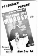 PAPERBACK PARADE #16 - 1990 fanzine - Richard S. Prather, Michael Avallone