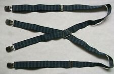 Braces Suspenders Mens Vintage CLIP ON 1970s 1980s NAVY BLUE Retro Skinhead