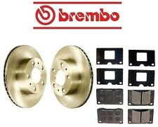 For Volvo 240 90-93 Front Complete Disc Brake Rotors KIT and Pads Genuine/Brembo