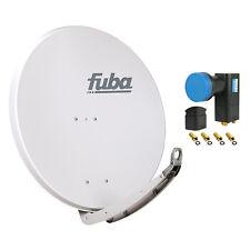 FUBA DAA 850 G + Opticum Quad LNB SAT Spiegel Schüssel grau Alu Antenne 85 cm