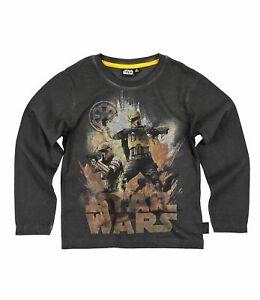 Star Wars Langarmshirt Rogue One T-Shirt Schwarz Gr.116,128,140,152