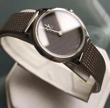 Ladies Genuine CK Calvin Klein Minimal K3M2312x Swiss Designer Watch Grey Mesh