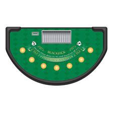 Professional Casino Green Spade Design Blackjack Table Layout / Felt