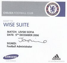 Ticket - Chelsea v Levski Sofia 05.12.06 Wise Suite