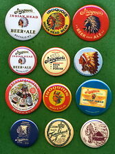 Iroquois Brewery Beer Ale Buffalo Ny Tray Indian Head Cap (12) Rp *Pins* Lot #1