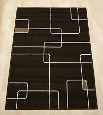 Cheap budget chocolate modern Graphic Extra Large lounge boys rug 190x280 cm.