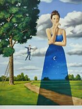 "Rafal Olbinski ""Midsummer Marriage"" HAND SIGNED NUMBERED ORIGINAL LITHOGRAPH"
