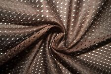 Brown #7 Athletic Sports Mesh Knit Polyester Football Jersey Fabric Bty