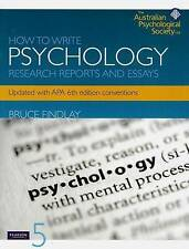 How to Write Psychology Research Reports and Essays by BM. Findlay Paperback 5th