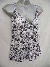 BNWT Womens Sz 10 Undercoverwear Pretty Floral Print Adjustable Cami Top RRP $49